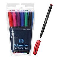 Линер Schneider Topliner 967, узел 0.4 мм, 6 цветов в наборе