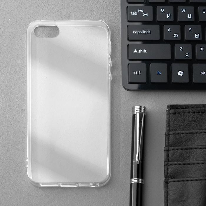Чехол Innovation, для iPhone 5/5S/SE (2016), силиконовый, прозрачный - фото 1