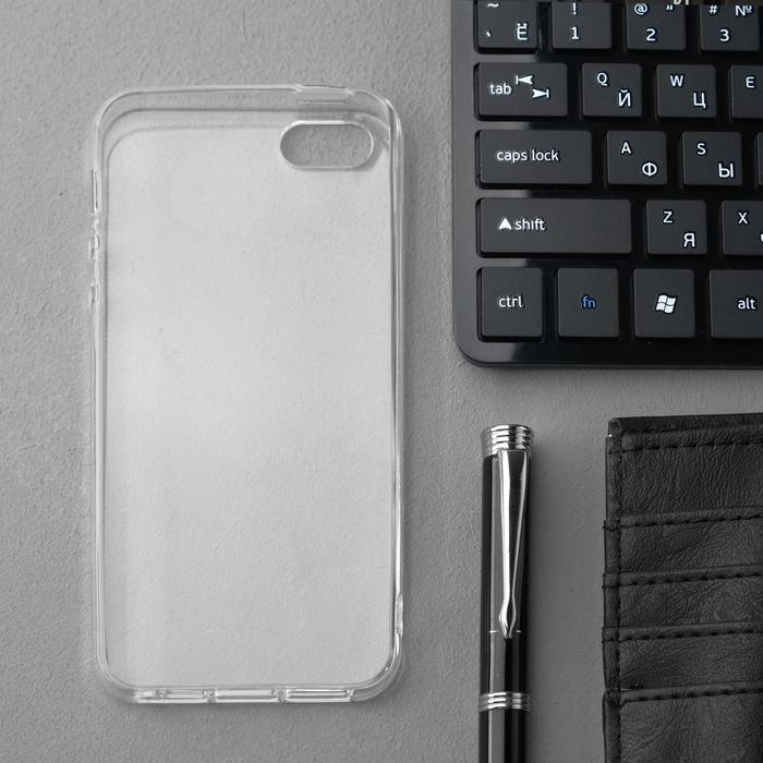 Чехол Innovation, для iPhone 5/5S/SE (2016), силиконовый, прозрачный - фото 2