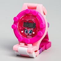 Часы наручные электронные 'Пинки Пай', My Little Pony, с ремешком-конструктором