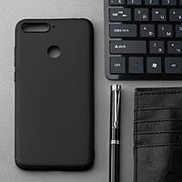 Чехол Innovation, для Huawei Honor 7A Pro/Y6 Prime (2018)/7C, силиконовый, матовый, черный