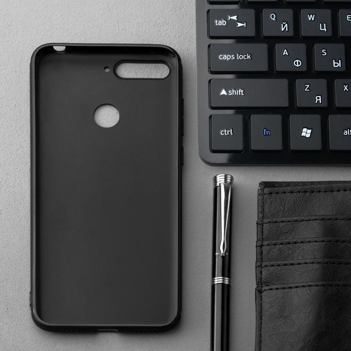 Чехол Innovation, для Huawei Honor 7A Pro/Y6 Prime (2018)/7C, силиконовый, матовый, черный - фото 2