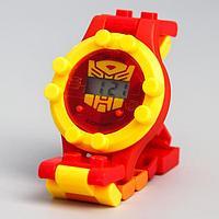 Часы наручные электронные 'Трансформеры', Transformers, с ремешком-конструктором
