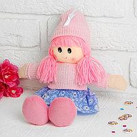 Мягкая игрушка 'Кукла', в шапке, цвета МИКС