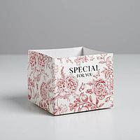 Складная коробка 'Цветы', 10 x 12 x 12 см