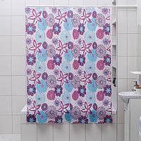 Штора для ванной комнаты Доляна 'Цветные сны', 180x180 см, EVA