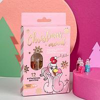 Набор крупных блёсток для декора ногтей Christmas mood, 12 цветов