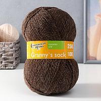 Пряжа Grannys sock W (Бабушкин носок ЧШ) 100 шерсть 250м/100гр м.т.корич (4606) (комплект из 2 шт.)