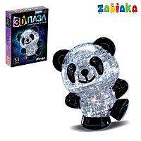 Пазл 3D кристаллический 'Панда', 53 детали, цвета МИКС