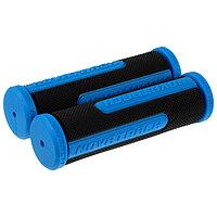 Грипсы Novatrack, 110 мм, цвет чёрный/синий