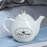 Чайник для заварки 'Петелька', белый, чай, 1.1 л, микс