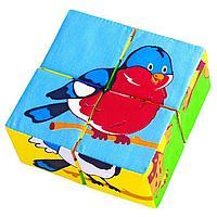 Набор мягких кубиков 'Собери картинку. Птицы'