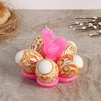 Свеча-подставка для 5 яиц 'Золотой петушок', МИКС