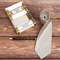 Подарочный набор галстук и ручка 'Любимому папе'