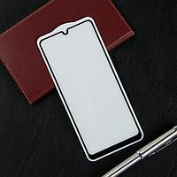 Защитное стекло Krutoff, для Samsung Galaxy A31, полный клей, черная рамка