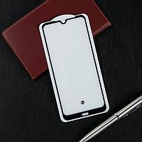 Защитное стекло Krutoff, для Xiaomi Redmi Note 8T, полный клей, черная рамка