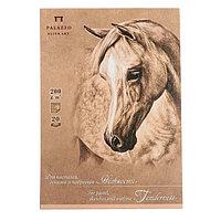 Планшет для эскизов А5, 20 листов на склейке 'Нежность', блок крафт-бумага, 200 г/м