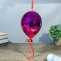 Ночник 'Воздушный шар малиновый' от бат в компл 13х13х19 см