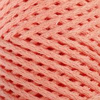 Шнур для вязания без сердечника 100 хлопок, ширина 2мм 100м/95гр (персиковый) МИКС