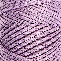 Шнур для вязания без сердечника 100 полиэфир, ширина 3мм 100м/210гр, (96 сиреневый)