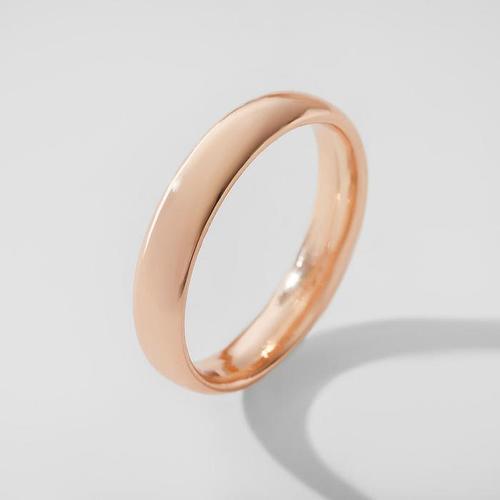 Кольцо обручальное 'Классик', цвет золото, размер 17