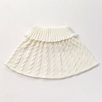 Шарф-манишка для девочки, возраст 3-8 лет, цвет молочный