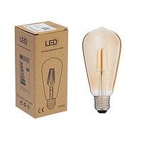 Лампа светодиодная 'Ретро', ST64, 4 Вт, E27, 420 Лм, 2700 К, золотистая, теплый белый