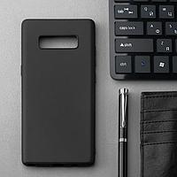 Чехол Innovation, для Samsung Note 8, силиконовый, матовый, черный