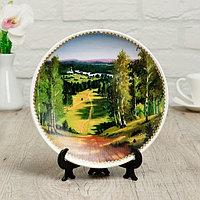 Тарелка декоративная 'Летний лес', настенная, D 19,5 см