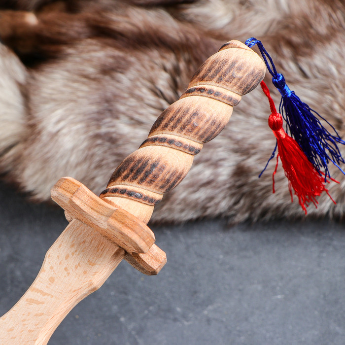 Сувенирное деревянное оружие 'Клинок Лорда', 46 см, массив бука, микс - фото 3