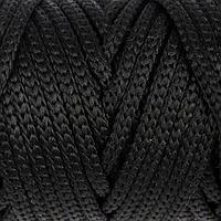 Шнур для рукоделия полиэфирный 4 мм, 50м/110гр (чёрный)