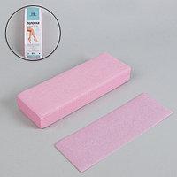 Полоски для депиляции, 20 x 7 см, 100 шт, цвет розовый