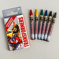 Восковые карандаши Transformers, набор 6 цветов