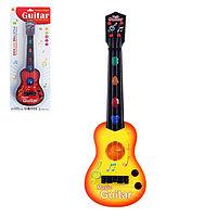 Гитара 'Супервечеринка', световые и звуковые эффекты, игрушечная, МИКС