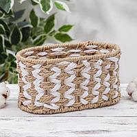Корзина для хранения плетёная Доляна 'Айка', 19x11x10 см
