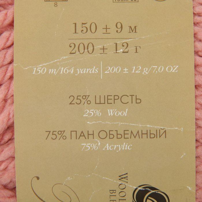 Пряжа 'Осенняя' 25 шерсть, 75 ПАН 150м/200гр (599-Увядшая роза) - фото 3
