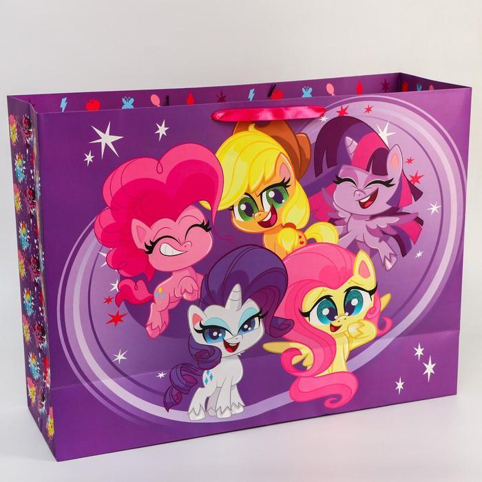 Пакет ламинат 'Поздравляю!', 61х46х20 см, My Little Pony - фото 2