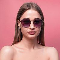 Очки солнцезащитные женские 'Раим' uv 400, 14.5х2.5х5 см, линза 6х5 см