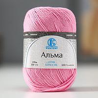 Пряжа 'Альма' 100 хлопок 170м/50гр (056 розовый) (комплект из 5 шт.)