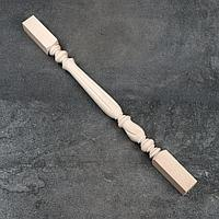 Балясина деревянная, 6x6x90 см, массив бука, сорт АВ