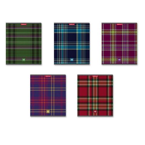 Тетрадь 48 листов, линия 60 г, Scottish Cage, Erich Krause (комплект из 5 шт.)