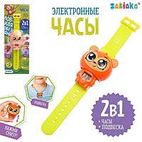 Электронные часы 'Ловкая обезьяна', цвет оранжевый