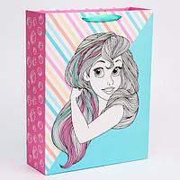 Пакет ламинат вертикальный 'Русалочка', Принцессы, 31х40х11 см