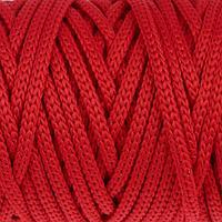 Шнур для рукоделия полиэфирный 4 мм, 50м/110гр (красный)
