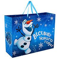 Пакет подарочный ламинированный XL 'С Новым Годом!', Холодное сердце, 61 х 46 х 20 см