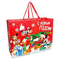 Пакет подарочный ламинированный XL 'С Новым Годом!', Микки Маус и его друзья, 61 х 46 х 20 см