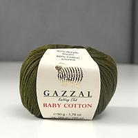 Пряжа 'Baby Cotton' 60 хлопок, 40 полиакрил 165м/50гр (3463) (комплект из 5 шт.)