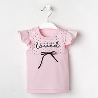 Футболка Крошка Я Lovely, розовый, р.24, рост 68-74 см