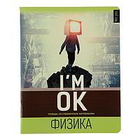 Тетрадь предметная 'Не ты', 48 листов в клетку 'Физика', обложка мелованный картон, выборочный Уф-лак, блок