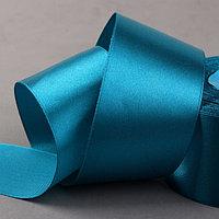 Лента атласная, 50 мм x 33 ± 2 м, цвет ярко-голубой 074